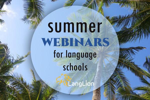 Summer webinars: Darmowe szkolenia wakacyjne dla szkół językowych